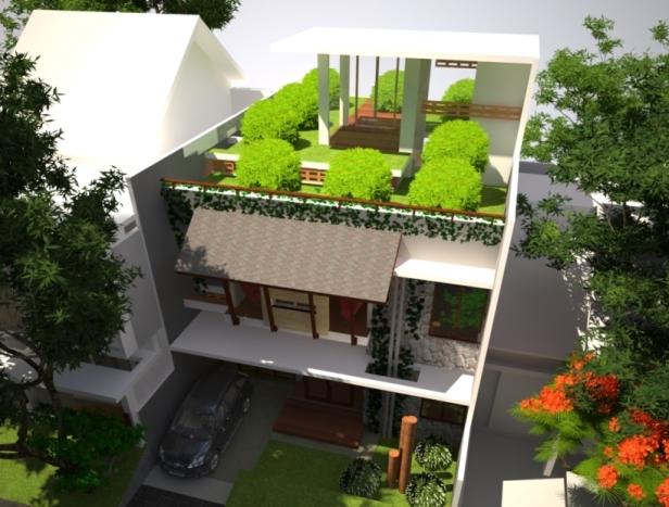 desain rumah ekologi, desain rumah ramah lingkungan