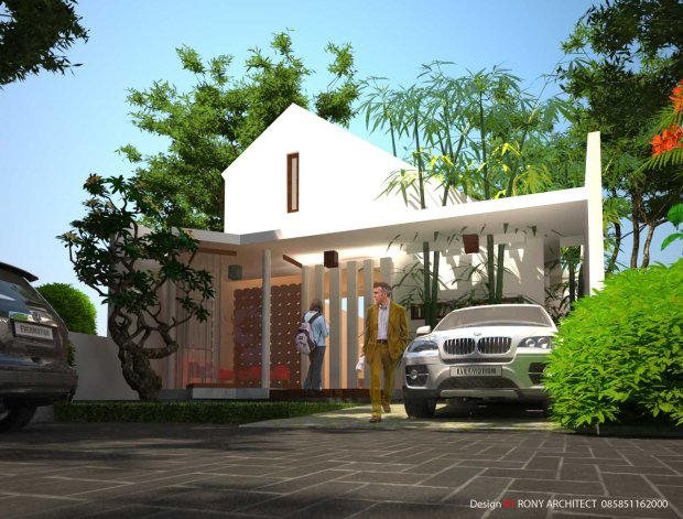 arsitek rumah unik , rumah modern satu lantai