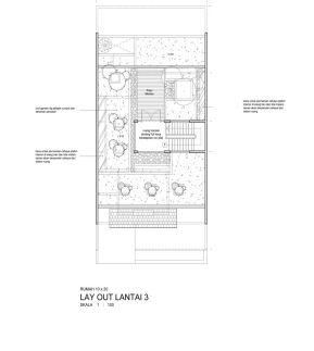 denah rumah ecologi lantai 3
