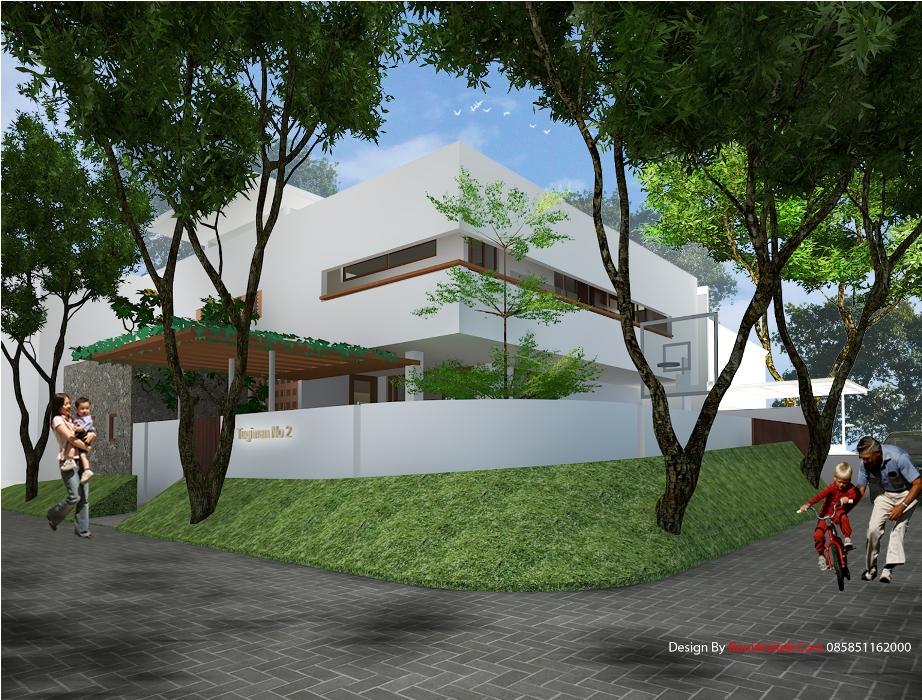 arsitek rumah tropis modern type pojok