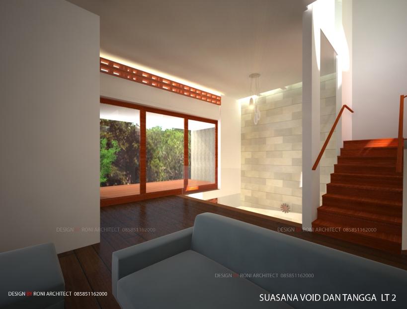desain interior ruang keluarga tema alami