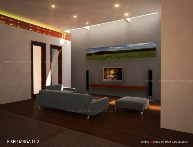 lantai mezanin tema simpel dan alami